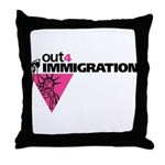 Out4Immigration Throw Pillow