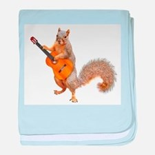 Squirrel Acoustic Guitar baby blanket