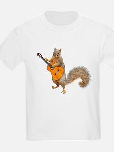 Squirrel Acoustic Guitar T-Shirt