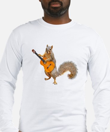 Squirrel Acoustic Guitar Long Sleeve T-Shirt