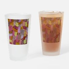 AUSTRALIAN ART CIRCLES AND LINES Drinking Glass