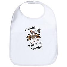 Gobble Wabble Thanksgiving Bib