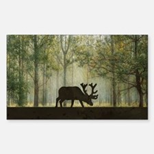 Moose in Forest Illustration Decal