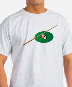 Snooker balls and cue T-Shirt