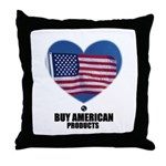 BUY AMERICAN PRODUCTS Throw Pillow