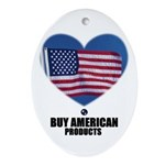 BUY AMERICAN PRODUCTS Oval Ornament