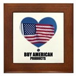 BUY AMERICAN PRODUCTS Framed Tile