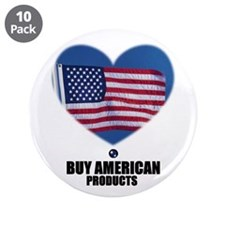 "BUY AMERICAN PRODUCTS 3.5"" Button (10 pack)"