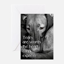 Sad Vizsla s Greeting Cards