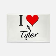 I Love My Tyler Rectangle Magnet