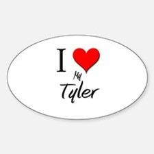 I Love My Tyler Oval Decal