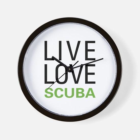 Live Love Scuba Wall Clock