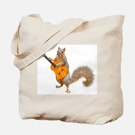 Squirrel Acoustic Guitar Tote Bag