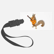 Squirrel Acoustic Guitar Luggage Tag