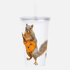 Squirrel Acoustic Guitar Acrylic Double-wall Tumbl