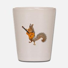 Squirrel Acoustic Guitar Shot Glass