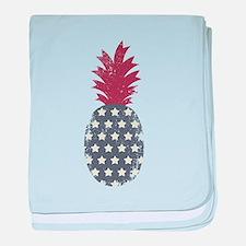 Patriotic Pineapple baby blanket