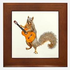 Squirrel Acoustic Guitar Framed Tile