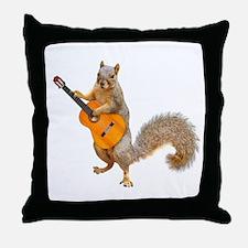 Squirrel Acoustic Guitar Throw Pillow