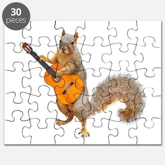 Squirrel Acoustic Guitar Puzzle