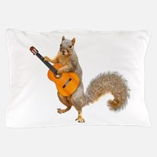 Squirrel Acoustic Guitar Pillow Case