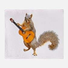 Squirrel Acoustic Guitar Throw Blanket
