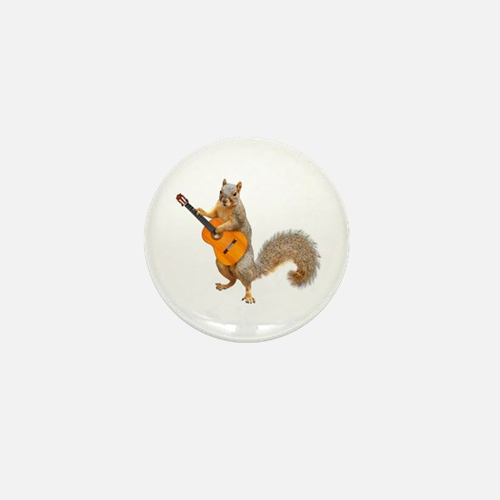 Squirrel Acoustic Guitar Mini Button