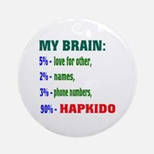 My Brain, 90% For Hapkido Round Ornament