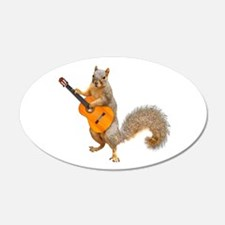 Squirrel Acoustic Guitar Wall Decal