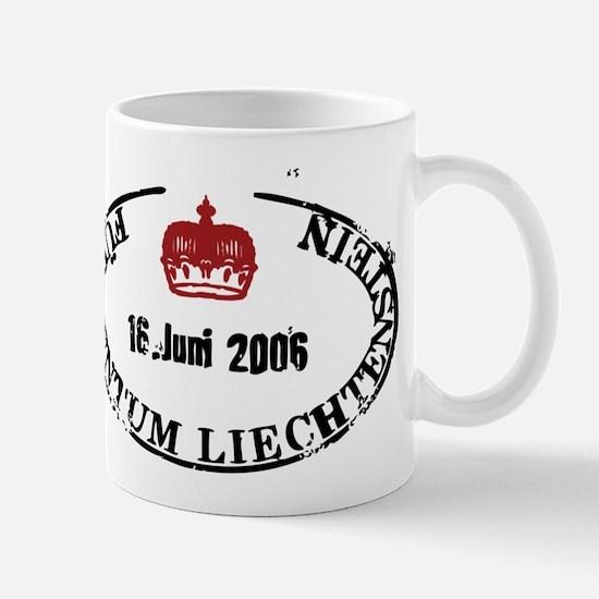 Furstentum liechtenstein stamp Mugs