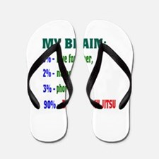 My Brain, 90% For Brazilian Jiu Jitsu Flip Flops