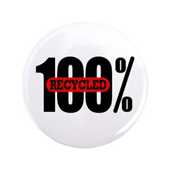 "100 Percent Recycled 3.5"" Button (100 pack)"
