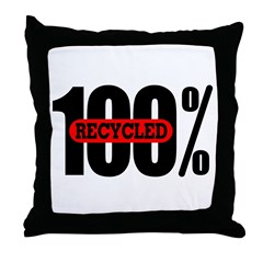 100 Percent Recycled Throw Pillow