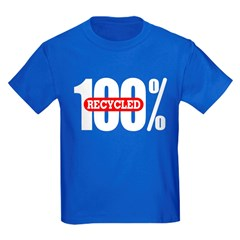 Kids 100 Percent Recycled T-Shirt Dark Colored