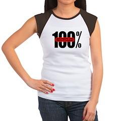 100 Percent Recycled Women's Cap Sleeve Tee-Shirt