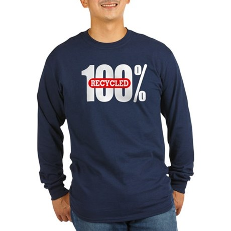 100 Percent Recycled Long Sleeve Dark T-Shirt