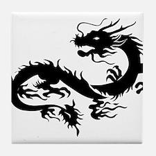 Chinese dragon art Tile Coaster