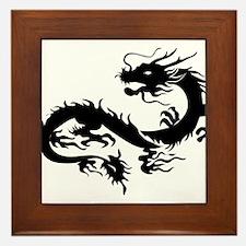 Chinese dragon art Framed Tile