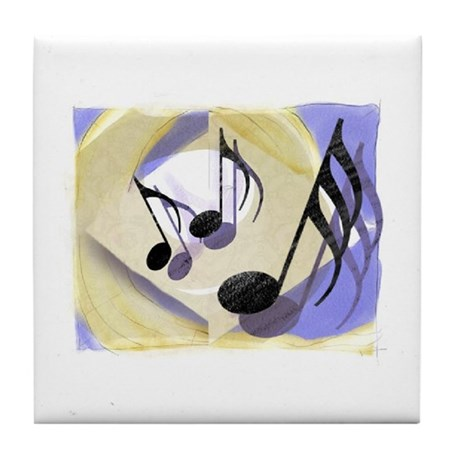Note Notecards Tile Coaster