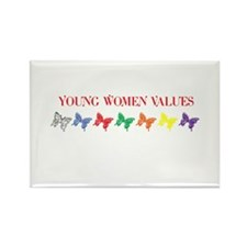 YOUNG WOMEN VALUES Rectangle Magnet