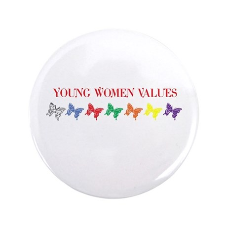 "YOUNG WOMEN VALUES 3.5"" Button (100 pack)"