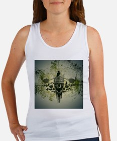 Awesome skull with crow Tank Top