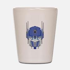 Blue transformer design Shot Glass