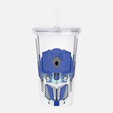 Blue transformer desig Acrylic Double-wall Tumbler