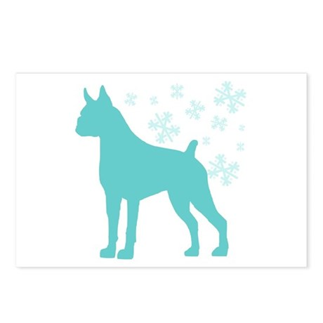 Boxer Snowflake Postcards (Package of 8)