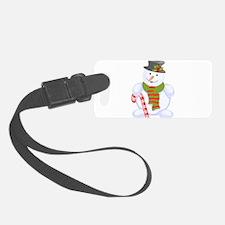 Snowman wearing scarf Luggage Tag