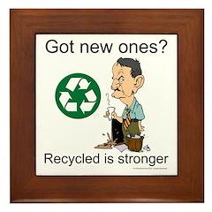 Recycled rocks! Framed Tile