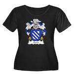 Sanz I Women's Plus Size Scoop Neck Dark T-Shirt