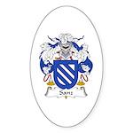 Sanz I Oval Sticker