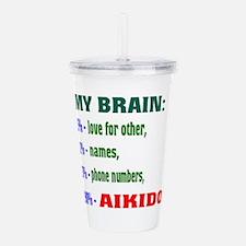 My Brain, 90% For Aiki Acrylic Double-wall Tumbler